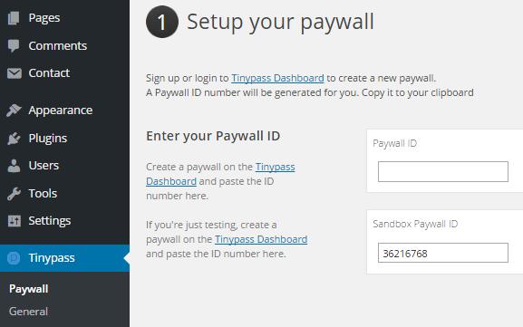 WPstep Paywall ID